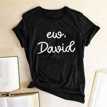 Женские футболки с принтом ew david летние топы для подростков
