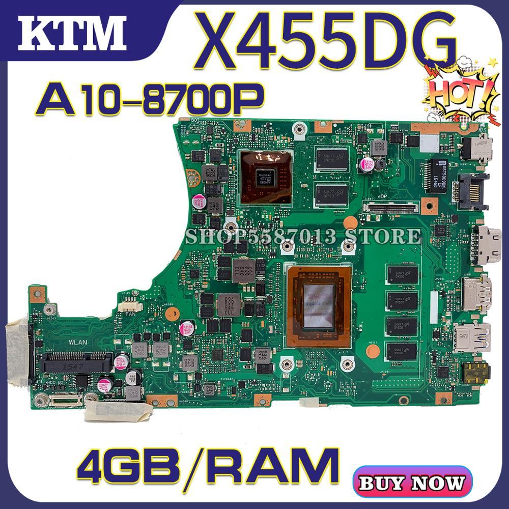 X455DG For ASUS X455D X455YI F455D A455D K455D R454Y R455D Laptop Motherboard R454Y Mainboard Test OK A10-8700P Cpu 4GB-RAM