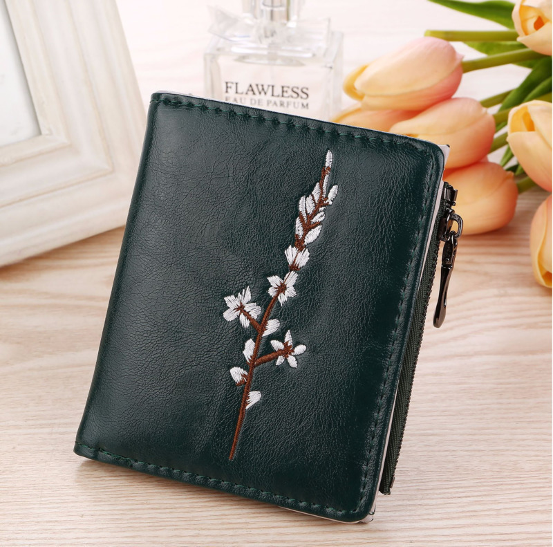 Women Wallet Coin-Purse Card-Holder Pocket Clutch Embossed Zipper Small Mini New-Fashion
