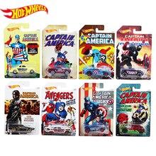 Подлинные горячие колеса Капитан Америка Мстители фильм классический автомобиль анимация Коллекция серии сплав автомобиль игрушки для детей DJK75
