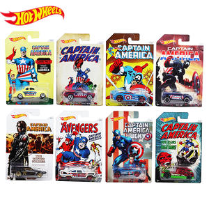 Car-Toys Avengers Hot-Wheels Classic Movie Captain-America Children for DJK75 Car-Animation-Collection