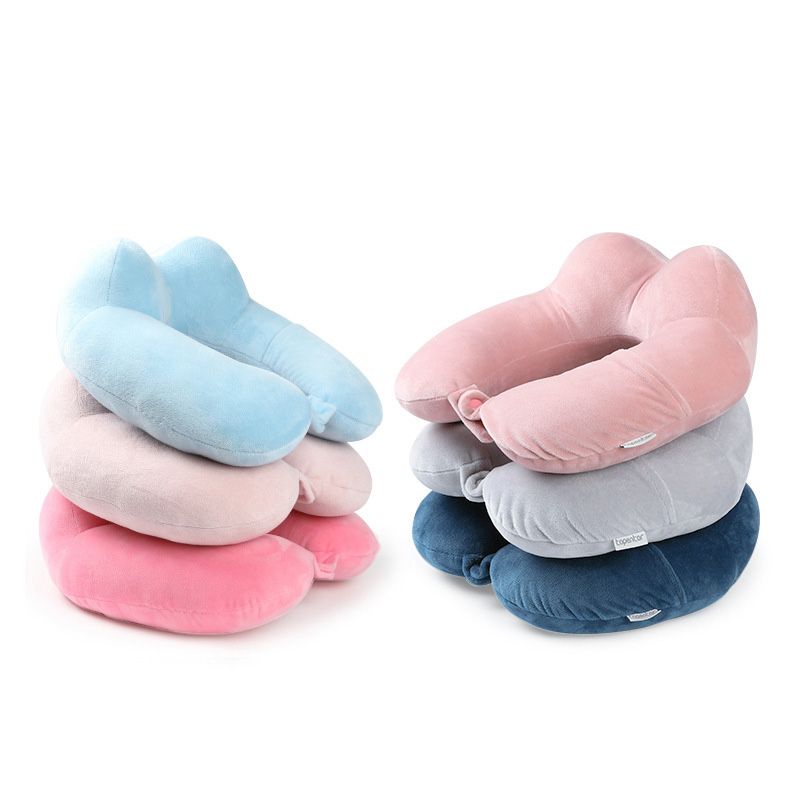 New PP Cotton Cervical Pillow Travel U-shaped Neck Pillows Unisex Office Lunch Break Neck Pillow Neck Pad Travel Accessories
