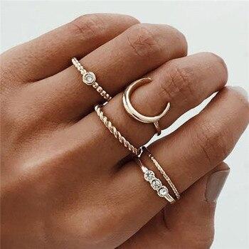 15 Pcs/set Women Fashion Rings Hearts Fatima Hands Virgin Mary Cross Leaf Hollow Geometric Crystal Ring Set Wedding Jewelry 36