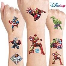 Random The Avengers Marvel Tattoo Sticker Disney Originales Spider-Man Iron Man Action Figure Cartoon Kids Girls Birthday Gifts