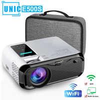 E500S mini Proiettore Full-HD 1080P del proiettore WIFI collegare il Telefono 1280x800P Risoluzione Beamer 6000lumen 4K Proyector Home Theater