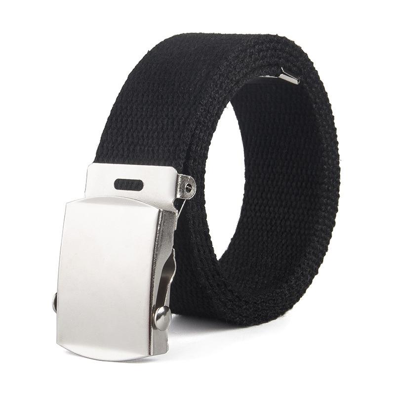 Trend Unisex Belt High Quality Canvas Smooth Buckle Men Belt Fashion Alloy Buckle Women Belt Cowboy Pants Belt Canvas Belt 110cm