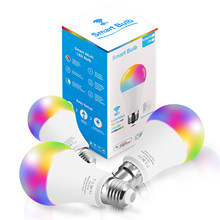 10w led lâmpada inteligente wifi siri controle de voz rgb pode ser escurecido e27 e14 b22 base ac 85v-265v alexa/google casa ios/android