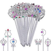 Baguettes pour filles, 12/24 pièces, jolies baguettes, Design cœur Rose, bâton ange féerique pour fête d'anniversaire, Costume Cosplay de mariage