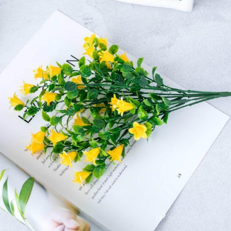 Orange Plastic Decorative Flowers