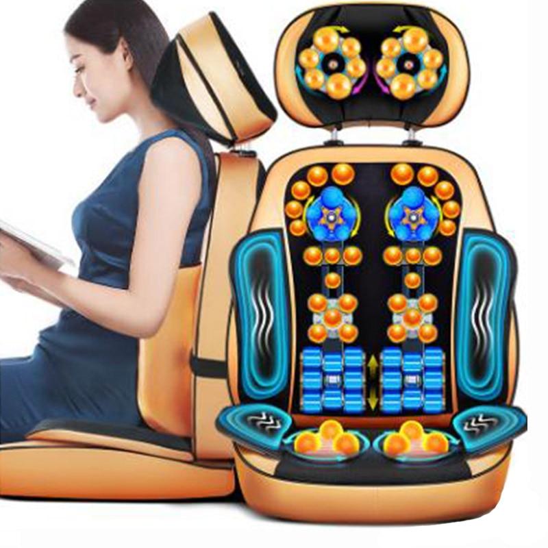 Massage Cushion For Leaning On Of Cervical Spine Massager Neck Shoulder Waist Massage Chair Cushion Knead J2216