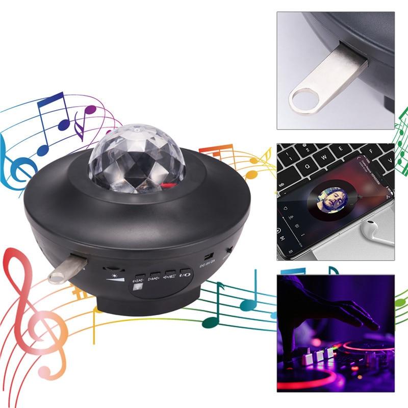 New IR Remote Control Led RGB Mini  Light DJ KTV Disco Laser Light Music Star Ball Lamp Wireless 6W