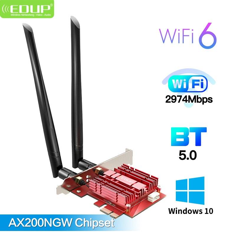 Двухдиапазонный беспроводной адаптер 3000 Мбит/с Wifi 6 PCIe для сетевой Wi-Fi карты Intel AX200 2,4G/5Ghz 802.11ac/ax Bluetooth 5,0 MU-MIMO
