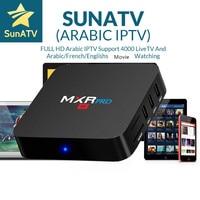 Tüketici Elektroniği'ten Set Üskü Kutuları'de SUNATV IPTV 1 yıl MXR PRO akıllı TV İtalya IPTV kutusu 4G/32G 7000 kanal fransa arap bulgaristan İsveç abd kanada Set top