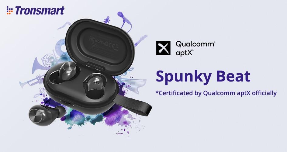 [Newest Version] Tronsmart Spunky Beat Bluetooth TWS Earphone APTX Wireless Earbuds with QualcommChip, CVC 8.0, Touch Control