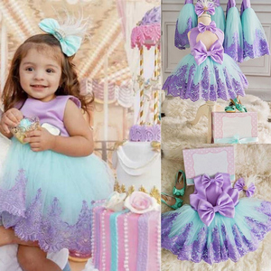 Girls First Birthday Dress for Newborn Baby Toddler Princess Halloween Carnival Dresses Kids Girl Party Prom Gown Clothing Wear(China)