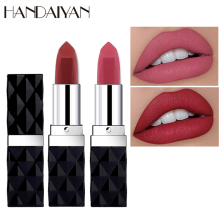 Women Waterproof Matte Lipstick Korean Moisturizing Lip Red Tattoo Makeup Long Lasting Glitter Lipstick Nude Lip Stick Cosmetic