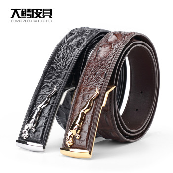 real leather crocodile mens belt designers for luxury genuine buckles men high quality bone automatic