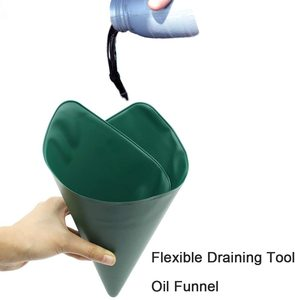 Image 3 - Flexible Draining Tool Oil Funnel, Oil Drain Funnel for Discharging Oil from Cars Trucks Motorcycle Funnel Drainage Oil Guide