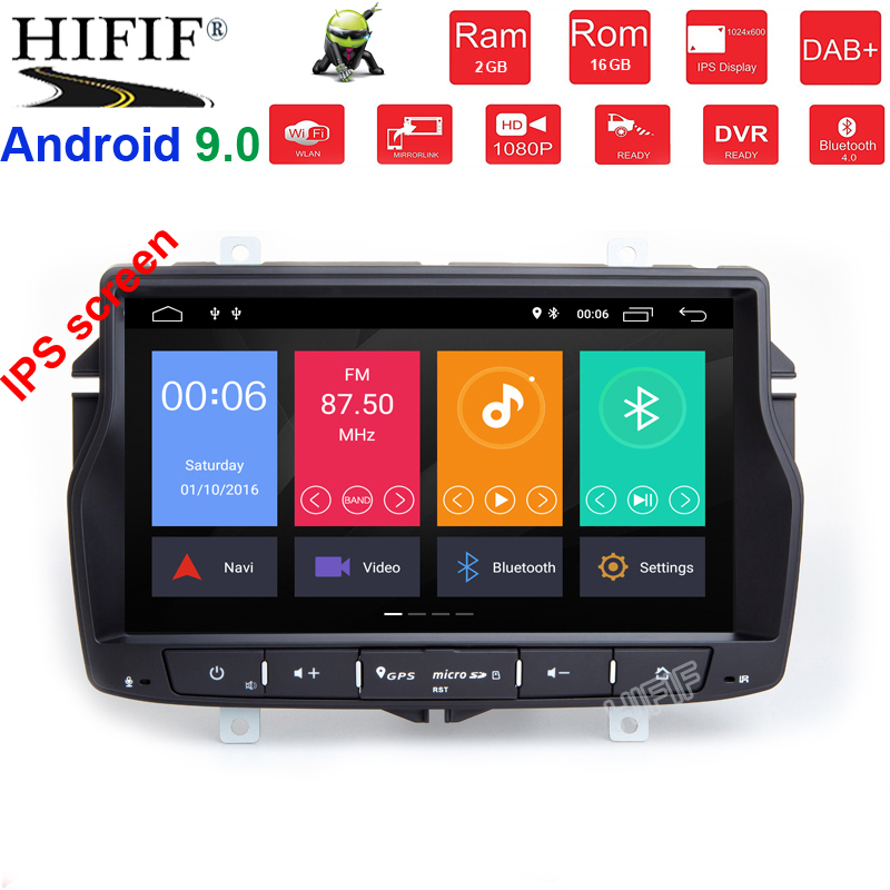 8 inch IPS HD 1024*600 4G+64G android9.0 car for Lada Vesta car radio video audio player gps navigation car stereo player image
