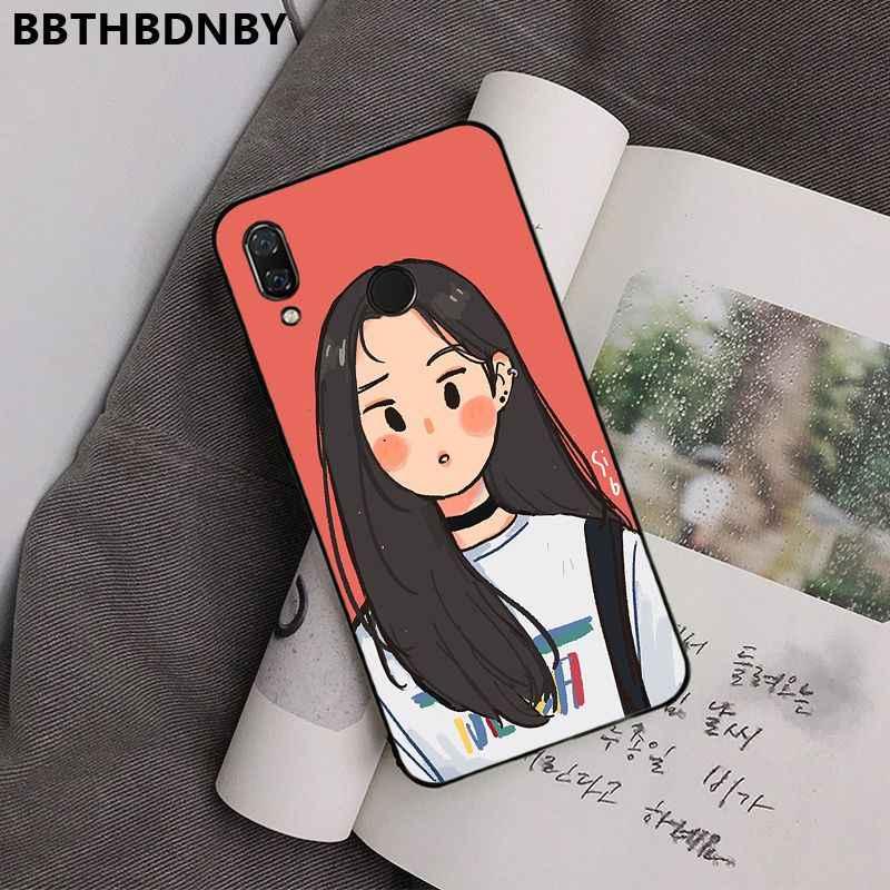 สำหรับฝาครอบ Graffiti หญิง DIY Luxury High-end สำหรับ Xiaomi 8 9 SE Redmi 6 6PRO 6A 4X7 หมายเหตุ 5 7
