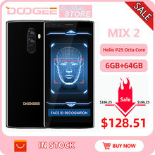 Oryginalny DOOGEE Mix 2 Android 7.1 4060mAh 5.99 FHD + Helio P25 octa core 6GB RAM 128GB ROM Smartphone Quad aparaty 16.0 + 13.0MP