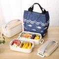 Японский деревянный Bento Box из нержавеющей стали Ланч-бокс для детский пищевой контейнер для хранения Портативный школьный для пикника + сумк...