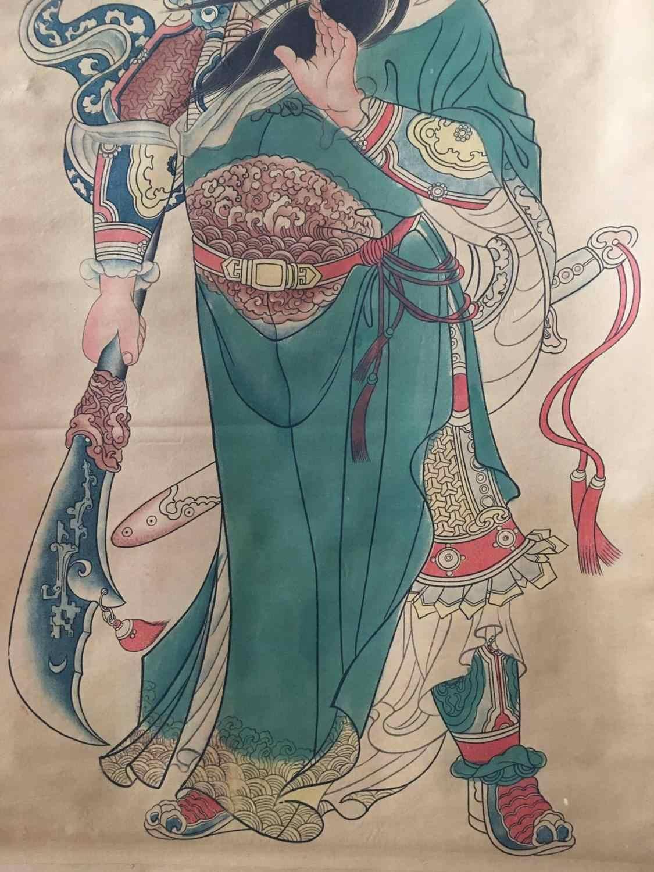 Çin eski kaydırma boyama ünlü şekil boyama orta salonu asılı boyama duvar resimleri Guan Yu