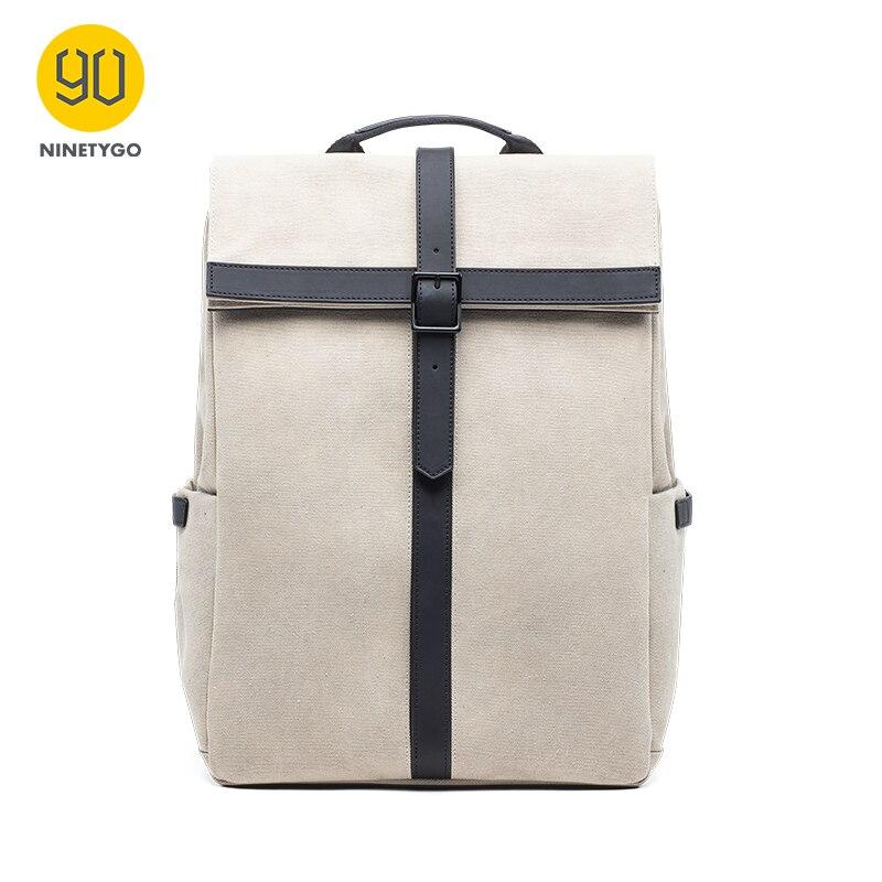 NINETYGO 90FUN Grinder Oxford Casual Backpack 15.6 Inch Laptop Bag British Style Daypack For Men Women School Boys Girls