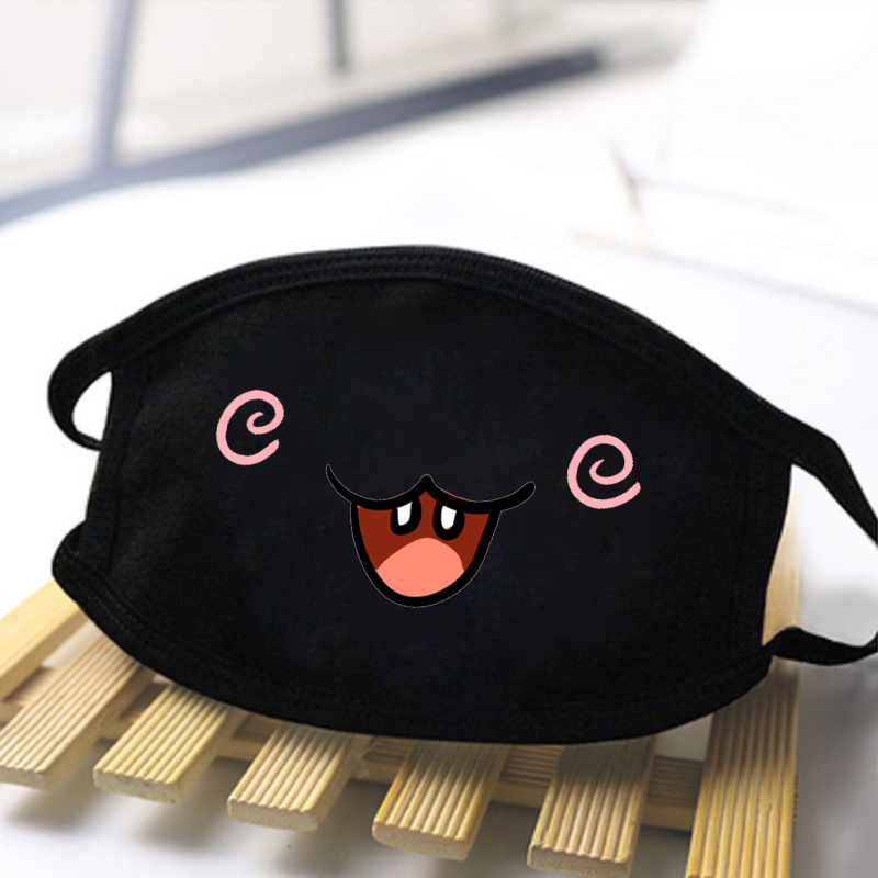 Personality Expression Lovely Masks Black Casual Mouth Mask Anti Haze Dust Washable Reusable Dustproof Mouth-muffle Warm Masks