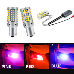 2pcs Daytime Running Light BA15S BAU15S 1156 P21W PY21W T20 7440 3157 LED External Lights with Turn Signal DRL Daylight for Car