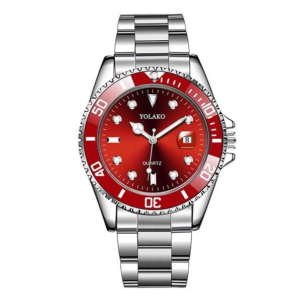 Montres à Quartz de haute qualité pour hommes montre-bracelet à Quartz de calendrier vert de marque supérieure pour hommes horloge en acier de luxe étanche reloj hombr 7