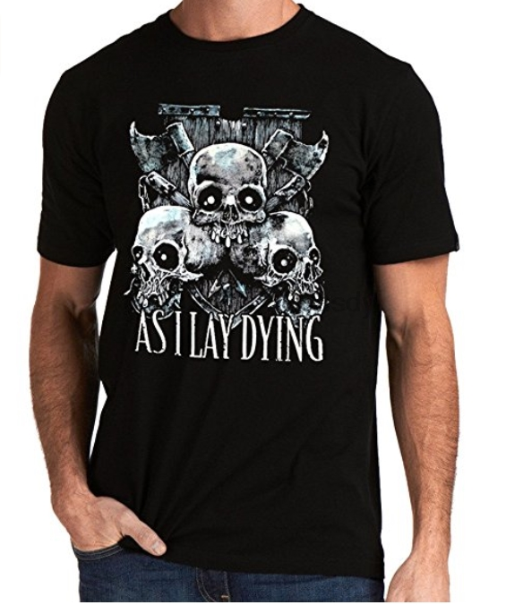 New As I Lay Dying Metalcore Band AILD Logo Men T-shirt Printed Summer Style Tees Male Harajuku Top Fitness Brand Clothing 2020 image
