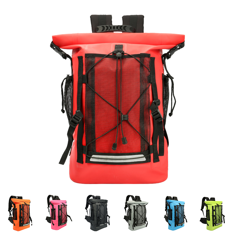 30L Onwater/Underwater Diving Waterproof Bags Dry Bag 500D Coated Fabric Sports Rafting Swimming Diving Backpacks 2019 New