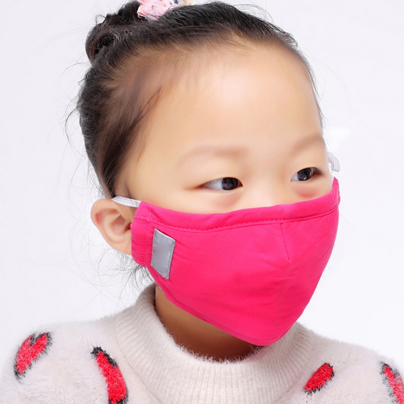 Child Face Mask For Kids Anti PM2.5 Dustproof Smoke Pollution Mask With Washable Respirator Mask Random Color Shipment