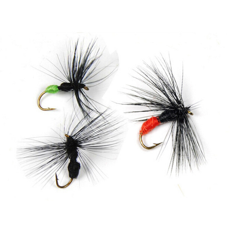 10 PCS/lot 10# A Lot Ant Shape Fly Artificial Bait Black & Green Butt Ants For Trout Fly Fishing Lure New