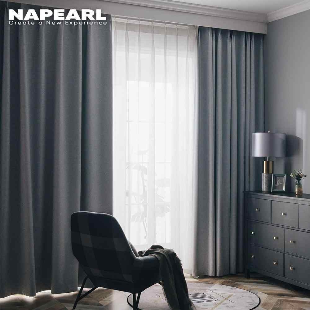 NAPEARL 1 Pezzo 100% di Sole-ombreggiatura Tende Oscuranti per Soggiorno Finestra di Tutti I Match Solido Design Moderno Tendaggi Complementi Arredo Casa Elegante