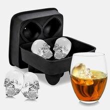 3d Череп Силиконовая форма льда кубиков формы для шоколада лоток