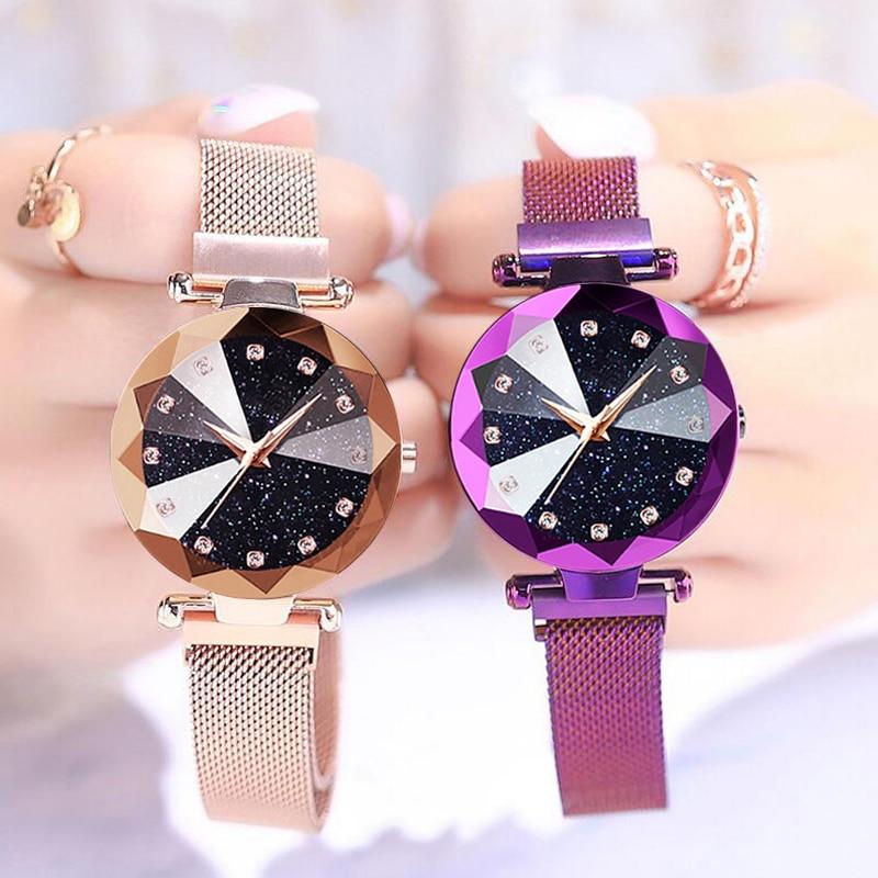 Women Starry Watches Luxury Magnetic Starry Sky Bracelet Clock Fashion Diamond Female Quartz Wristwatches Relogio Feminino