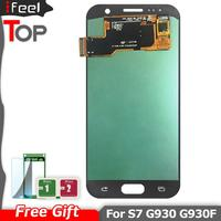 For SAMSUNG GALAXY S7 G930A G930F SM G930F LCD Display Touch Screen Digitizer Assembly Replacement For SAMSUNG S7 G930 LCD