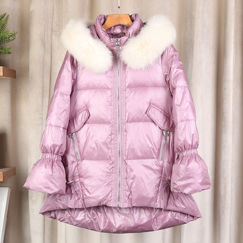 Winter Coat Female New Brand Warm White Duck Down Jacket Women Clothes 2019 Korean Thick Elegant Down Parkas Hiver LW2231