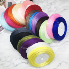 HINDJEF 10mm /Rolls 45M Pretty Silk Organza Double Face Transparent Ribbon For Wedding Party Decoration Crafts Gift Packing Belt