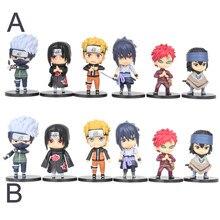 Figuras de acción de Naruto, colección de muñecos de PVC, Kakashi, Sakura, Sasuke, Itachi, Obito, Gaara, lote de 6 unidades