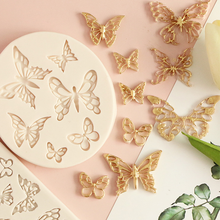 Silicone Fondant Candle Mold Butterfly Lace Cup Resin Kitchen Accessories Sugarcraft Pastry Cake Decorating