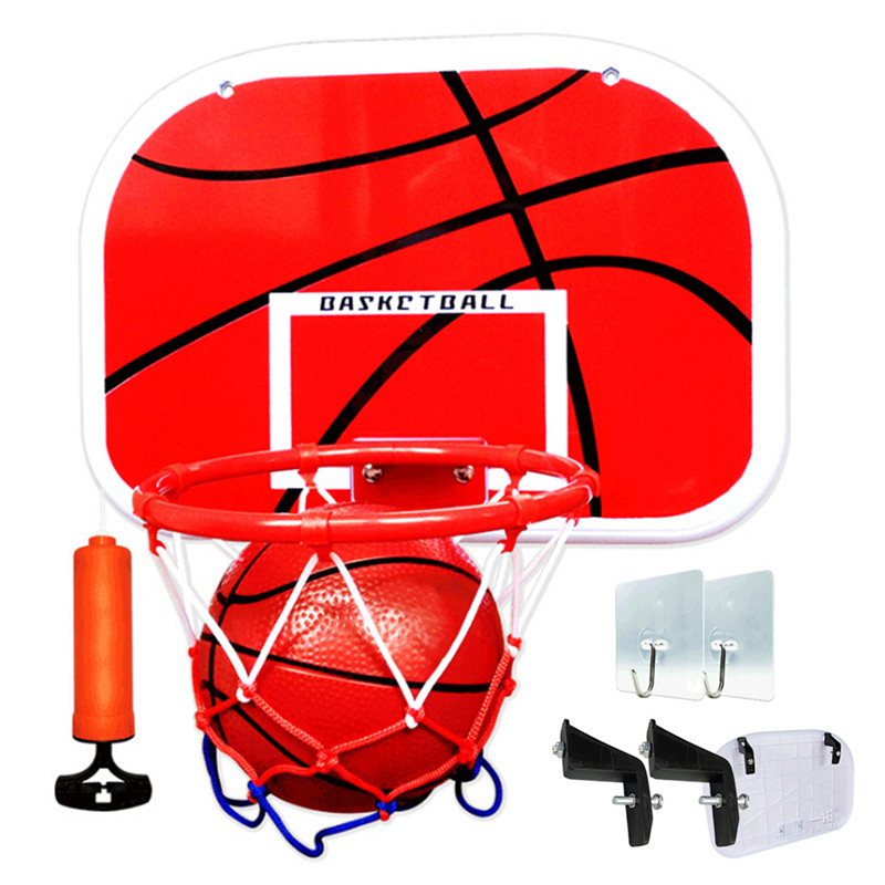Children Hanging Basketball Hoop Indoor Basket Ball For Door Mini Basketball Board Family Basket Game Basketball Toy Set A