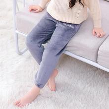 Детская Пижама для мальчиков и девочек Теплые штаны Повседневная хлопковая теплая свободная фланелевая однотонная одежда с вышивкой