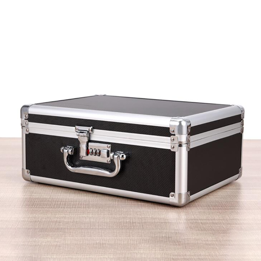 Aluminum Tool Holder Box Case Flight Briefcase With Passwords / Key Locked, Equipment Cosmetic Makeup Manicure Storage Case