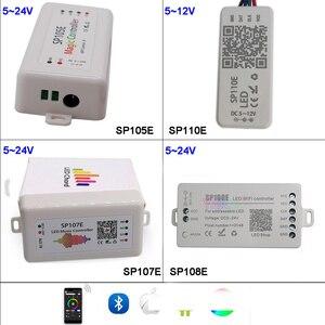 SP108E wifi WS2811 WS2812B Led Music Controller SP107E SK6812 SP105E Bluetooth APA102 SP110E WS2801 Pixels Led Strip DC5-24V(China)