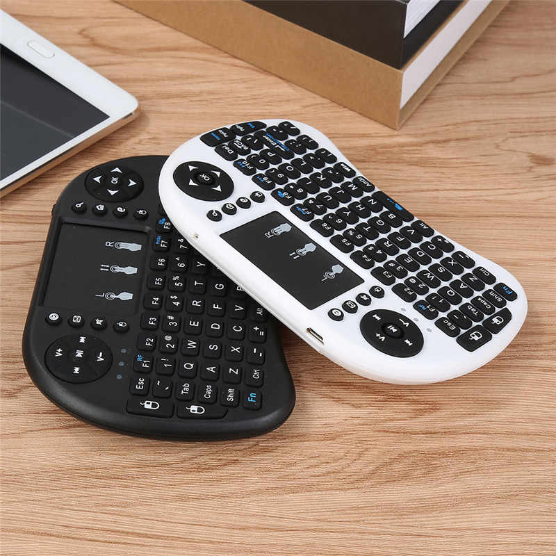 Keyboard Portabel 2.4G Mini Keyboard Handheld Sensitif Tinggi Smart Touchpad Keyboard Udara Mouse untuk Android Smart TV Set- top Box