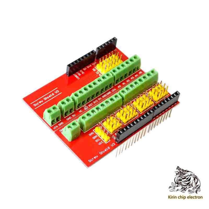 5pcs / Lot Screw Shield V1 Terminal Expansion Board Interactive Media Compatible With Uno R3