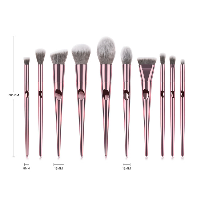 Professional Makeup Brushes For Face Eyeshadow Brush Blush Lip Eye Powder Mermaid Brushes Foundation Rose Gold Make Up Cosmetic 2